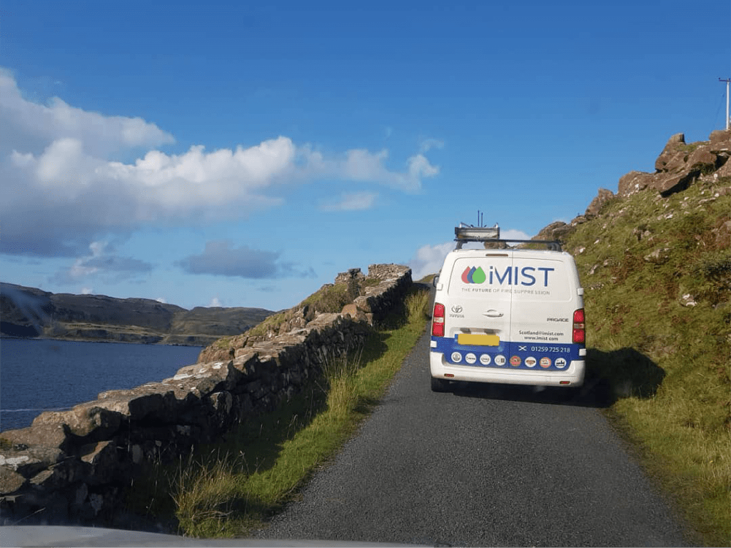 iMIst van on the hills of Scotland - uk page