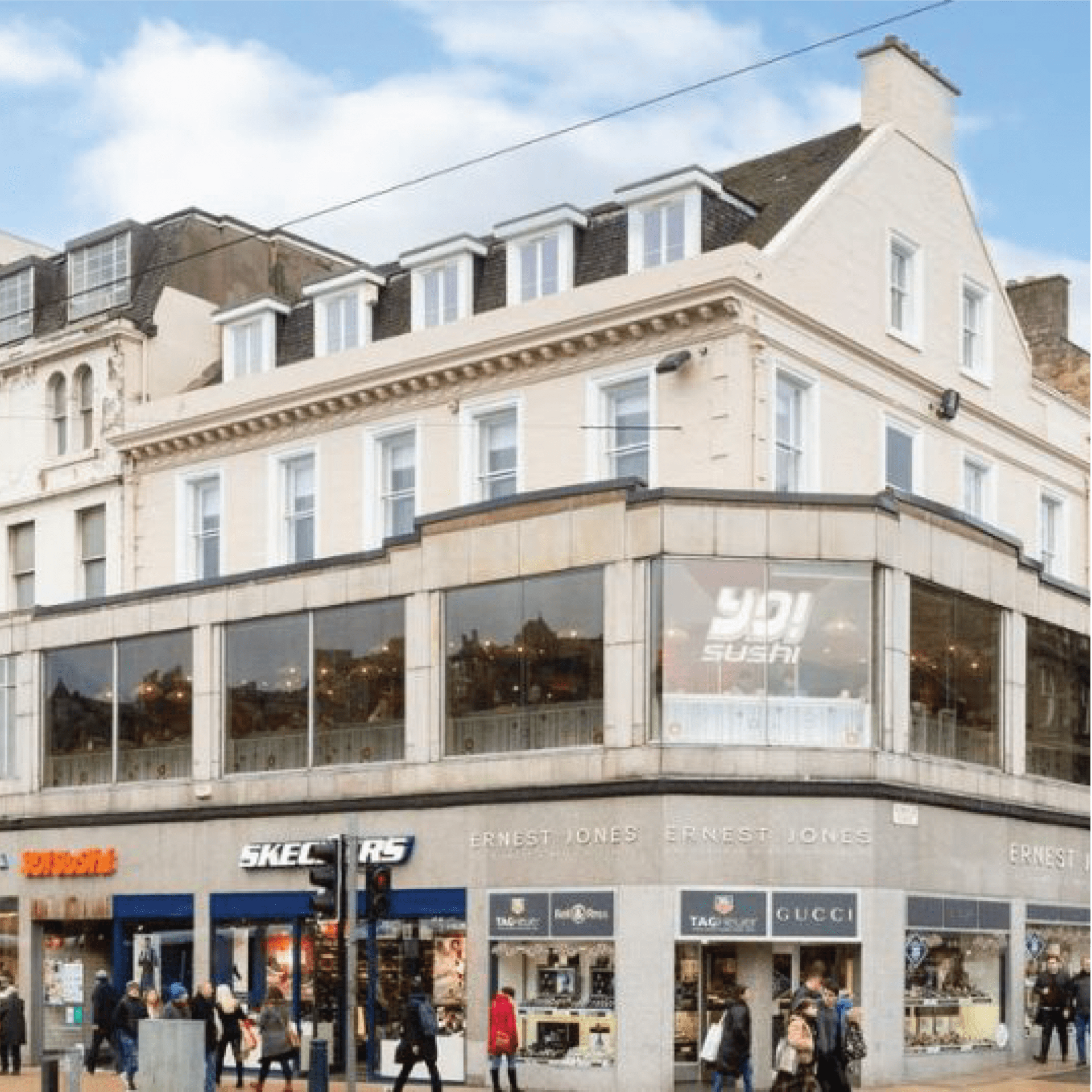 Edinburgh Princes Street, luxury apartments, iMist installed a fire suppression system with 67 nozzles