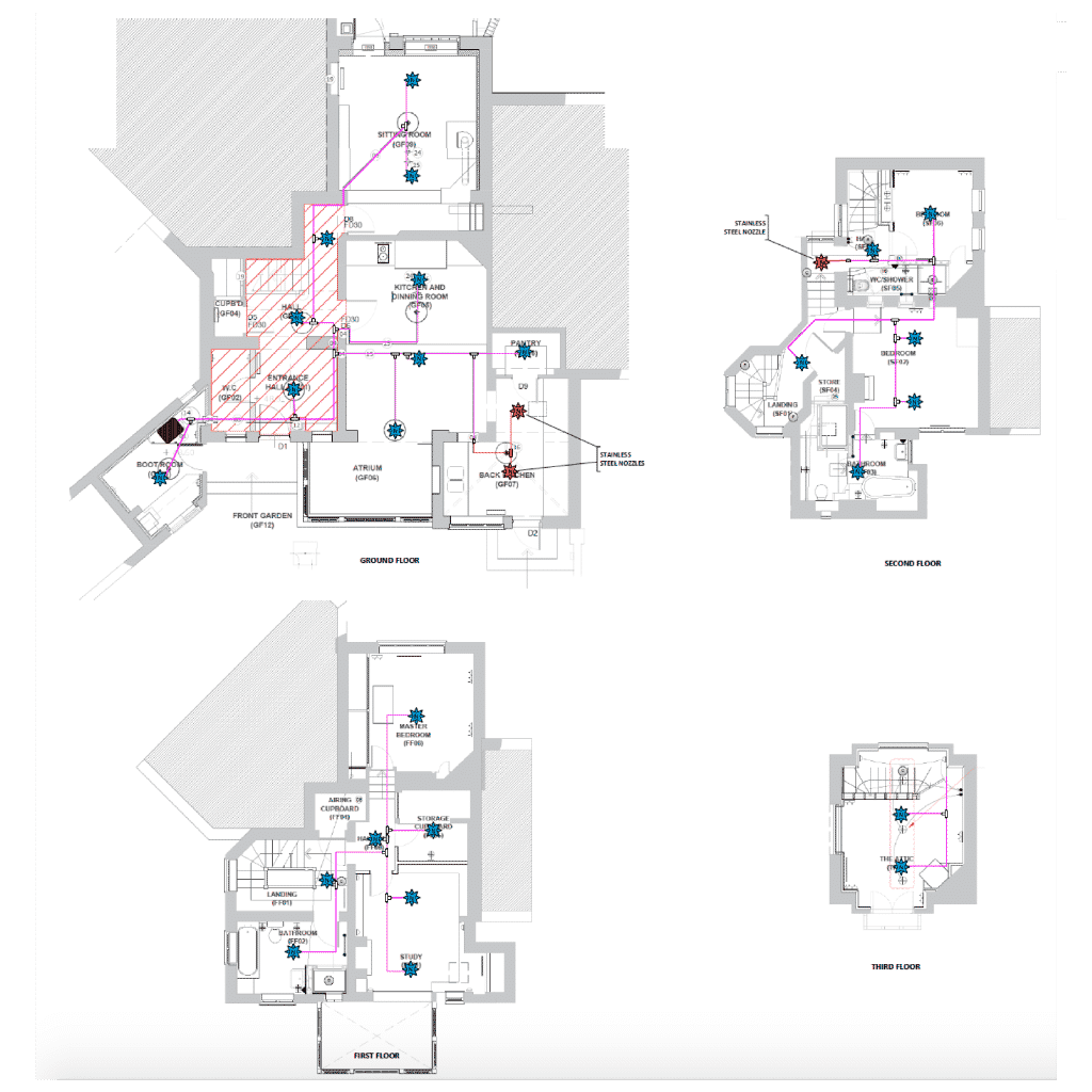 Floorplans for the towers a change of building use case studies imist fire suppression