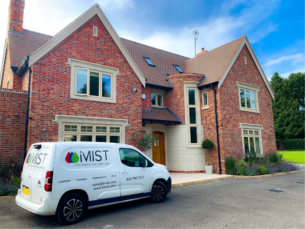 iMist installed a fire suppression system in a family home in Birmingham imist servicing