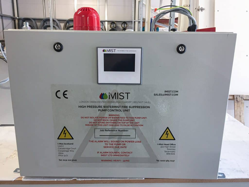 iMist residential pump front on from the factory